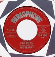 THE BEATLES Love Me Do Vinyl Record 7 Inch Parlophone 1982.